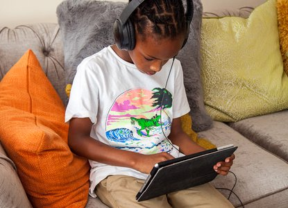 Boy with an ipad