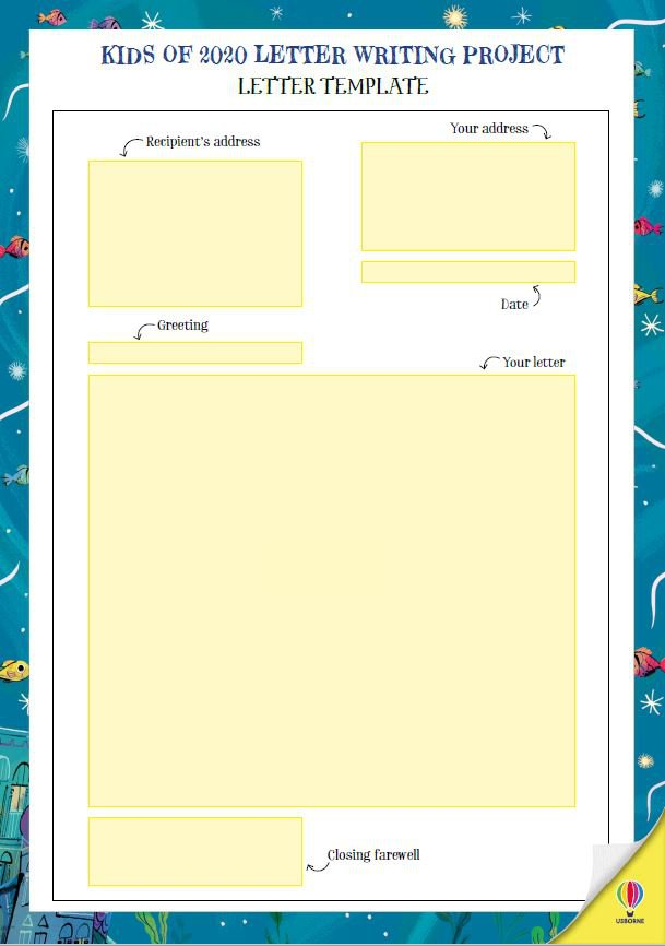 Letter Writing Project page 2