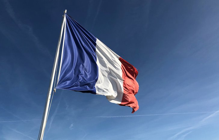 French flag Alouette