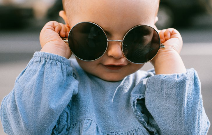 child in sunglasses