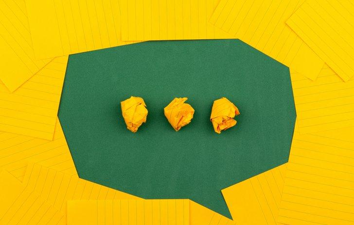 Communication speech bubble